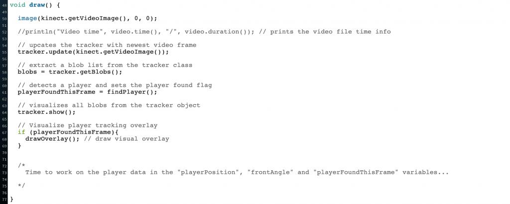 Kinect code draw