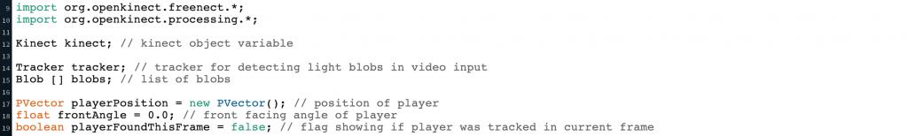 Kinect code top