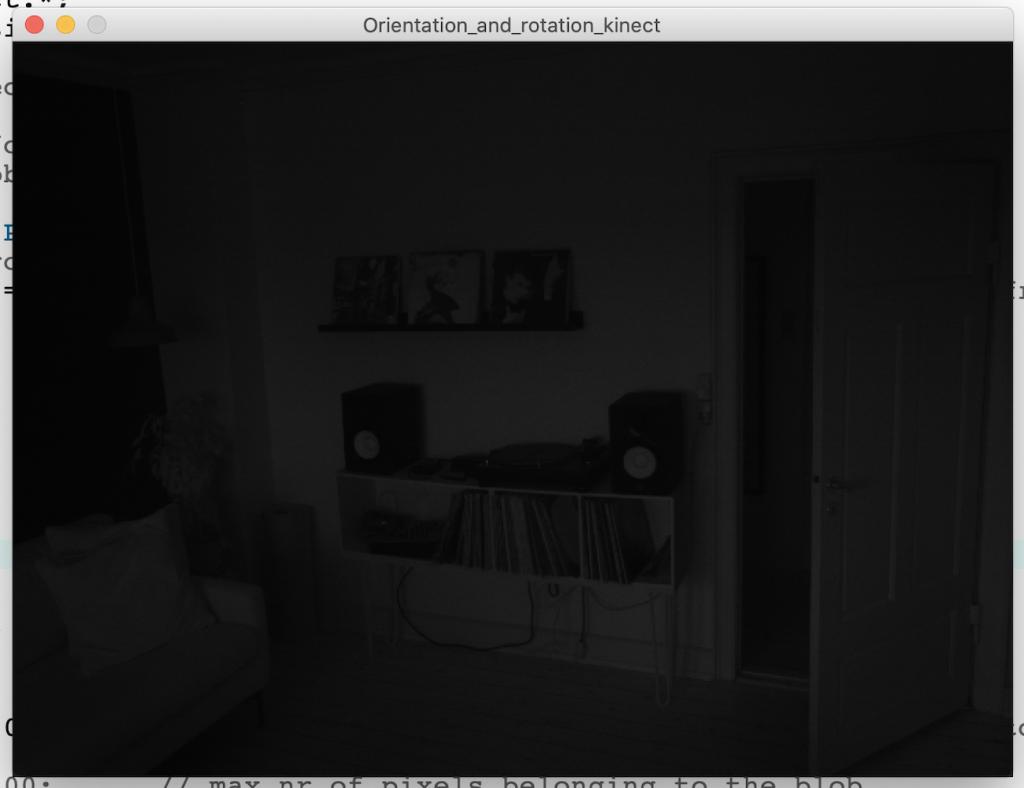 Kinect IR cam image